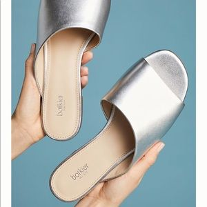 Anthropologie Shoes - ✨NEW✨ Anthropologie Botkier Silver Slides Mules